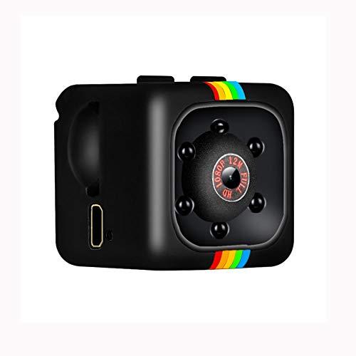 SCDJK Leva 1080P Mini Seguridad inalámbrica con visión Nocturna, Grabadora de Video en niñera/ama de Llaves, Deportes Leva de la acción Principal, Coches, Aviones no tripulados, oficinas y Uso al ai
