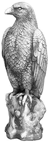 gartendekoparadies.de Massive Steinfigur großer Steinadler Adler aus Steinguss, frostfest