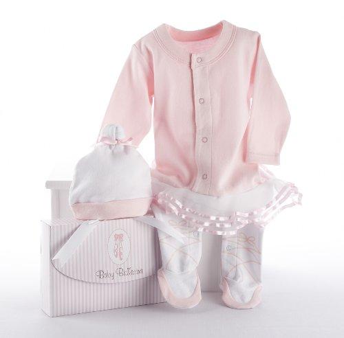 Baby Aspen, Baby Ballerina Two-Piece Layette Set in Gift Box, Baby Shower Gift, Newborn Onesie, Baby Halloween Costume, 0-6 Months