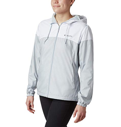 Womens Flash Forward Lined Cirrus Grey/White Windbreaker Jacket