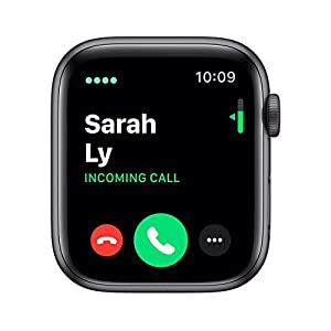 (Renewed) Apple Watch Series 5 (GPS + Cellular, 44MM) - Space Gray Aluminum Case with Black Sport Band