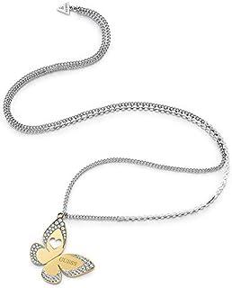 Guess Womens Non-Precious Metal Fashion Necklace - UBN78028, Color Silver, Size 2.36 inches