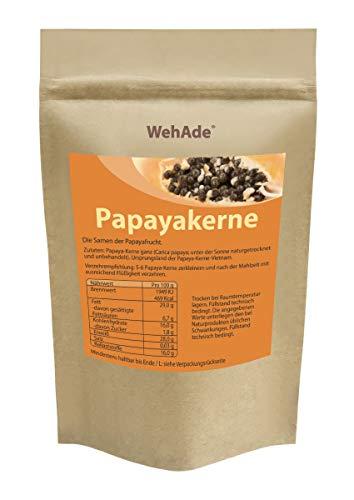 Papaya Kerne 15g Papaya-Samen ACHTUNG! KEINE HYBRID SAMEN daher SEHR INTENSIVER natürlicher BITTERER Geschmack! schonend getrocknet Rohkost Laborgeprüft