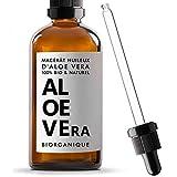BIO Aloe Vera Öl 100% rein, natürlich und vegan - 100 ml - ölmazerat - Pflege für Gesicht, Haut und Haare