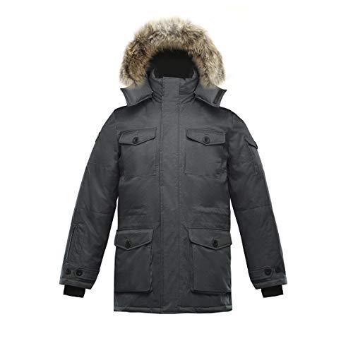 Triple F.A.T. Goose SAGA Collection | Eldridge Mens Parka Jacket (Medium, Charcoal)
