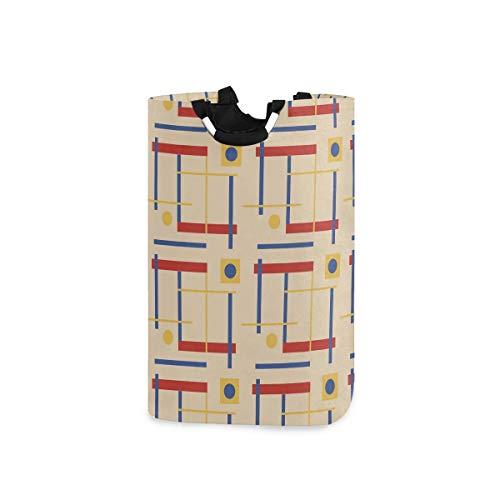 """Wäschekorb """"A Nod To Bauhaus"""", zusammenklappbarer Aufbewahrungsbehälter mit Griffen für Kleidung, Wäsche, Schlafzimmer, Organizer, Spielzeug-Kollektion"""