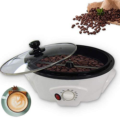 Anciun Kaffeeröster Kaffeebohnen Bratmaschine, Haushalt Edelstahl Elektrischer Rotations Kaffeeröster Antihaftbeschichtung Backen, Gleichmäßige Erwärmung der Bienenwabe 1200W