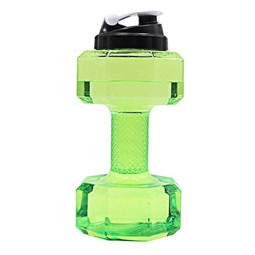 Wasserbeutel Gym Hantel Wasserkocher Sportflasche 2.2 LDumbbells Große Wasserflasche Sport Laufen Fitness Wasserkocher Gym Wasserflaschenhalter Wasserflasche Sport Kombination ( Color : Green )