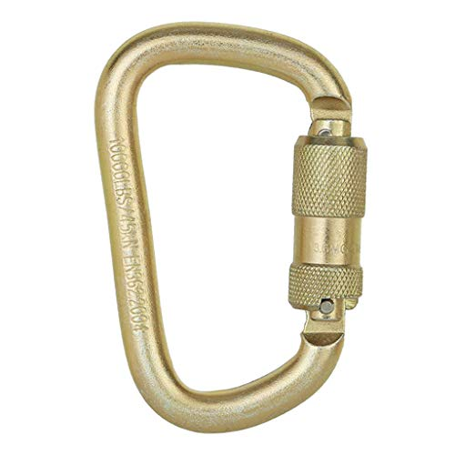 sharprepublic Puertas Atornilladas con Mosquetón en Forma de D para Escalar El Equipo de Senderismo en Rappel 45KN - de Oro