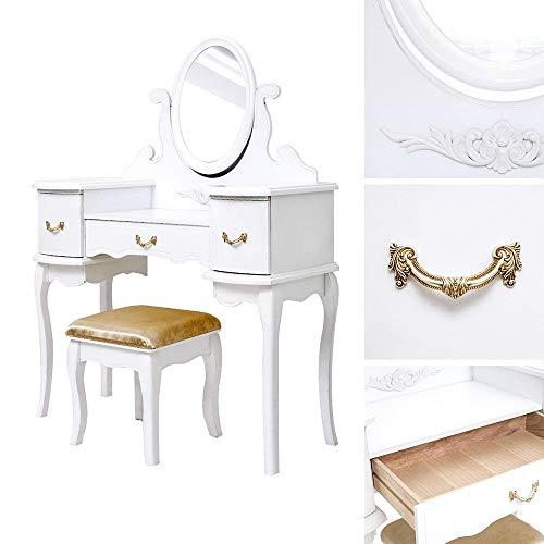 Genérico espejo taburete mesa maquillaje mesa tocador w tocador tocador tocador Dressi tocador con mesa ng mesa D tocador tocador mesa Dr espejo taburete