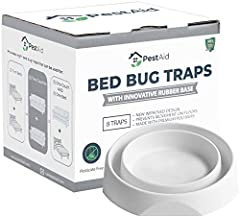 ☑ BRAND NEW INNOVATIVE DESIGN: The new improved design features a heavy-duty rubber base combined with premium polymers, replacing the outdated plastic base used by other bed bug traps on the market. The Pest Aid rubber base greatly reduces movement ...