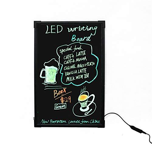 HO-TBO Bacheche messaggi e insegne LED Messaggio Forum, Illuminato cancellabile Neon Effect Menu del Ristorante for la Cucina sig Promozioni di Nozze Banco di Mostra attività