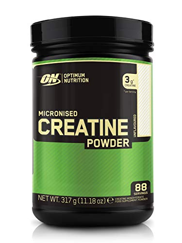 Optimum Nutrition Micronised Creatine Powder, Unflavoured Monohydrate Powder for Muscle Growth, 88 Servings, 317 g