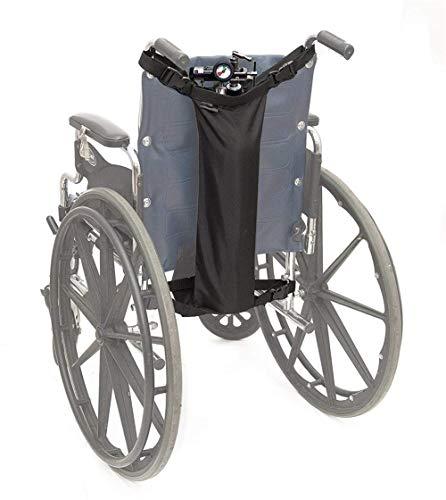 HYDDG Soporte para Tanque de oxígeno Silla de Ruedas, se Adapta a Tanques D y E, Bolsa para Tanque de oxígeno