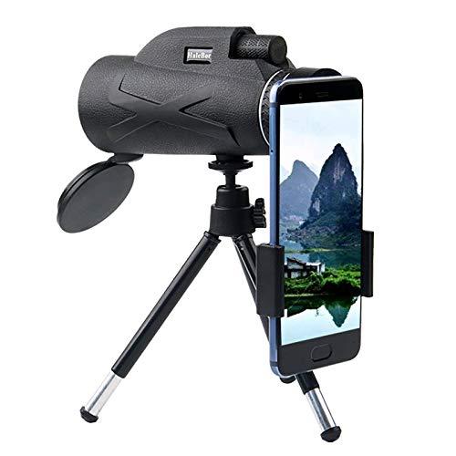 Professionelles Teleskop,HD Nachtsicht Monokular Zoom Optisches Fernglas Monokel Für Spektiv,Schwarz