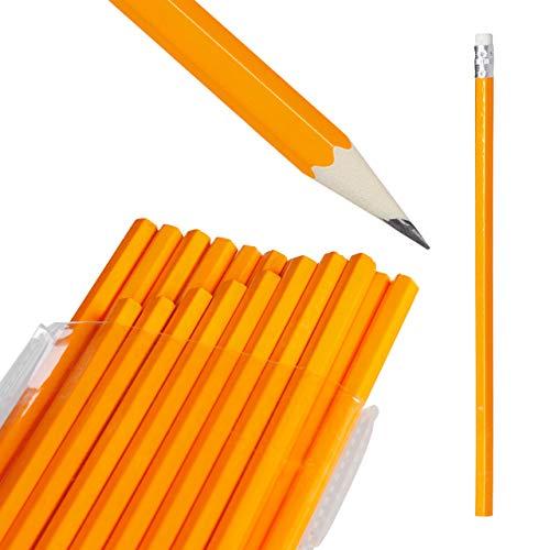 Relaxdays, natürlich Bleistifte 100er Set, Radierer, HB-Minen, Holzbleistifte im Großpack, Stifteset Büro, Schule, Stift, Pack