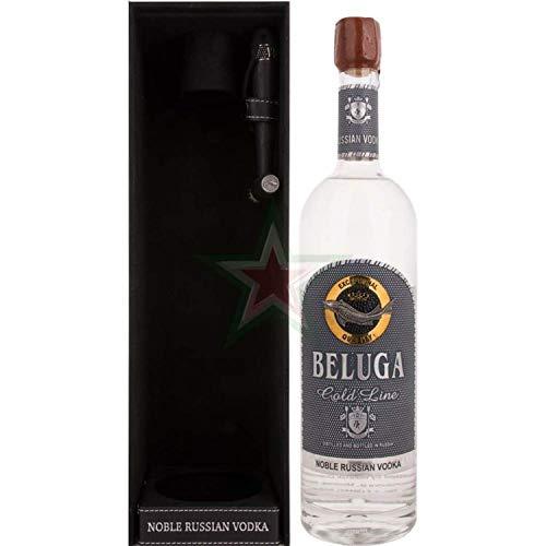 Beluga Gold Line Noble Russian Vodka in Lederoptik mit Pinsel 40,00% 1,00 lt.