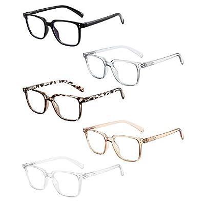 Amazon - Save 70%: Axot Blue Light Reading Glasses 5 Pack, Fashion Square Frame Anti UV Bl…