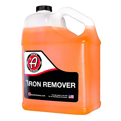 Adam's Iron Remover Gallon - Fallout Iron Out Rust Stain Remover Spray For Pro Car Detailing | Use Before Car Wash Clay Bar Car Wax Ceramic Coating & Machine Car Buffer Polisher | Auto Paint Motorcycle RV Boat