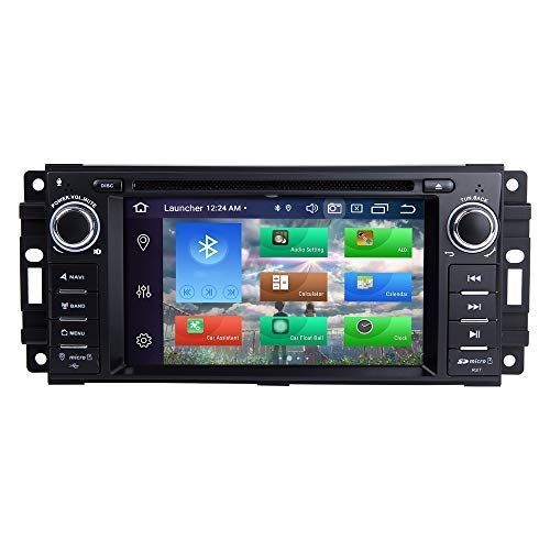 BOOYES per Jeep Wrangler JK Dodge RAM Challenger Chrysler Android 10.0 Octa Core 4GB RAM 128GB Rom 6.2' Autoradio Sistema GPS Stereo Auto Lettore multimediale Supporto Auto Riproduzione Automatica