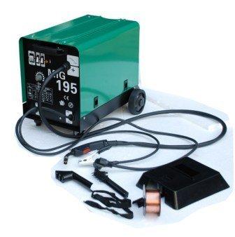 Hst MIG MAG Schweißgerät 195 Ampere Schutzgas Schweissgerät schweißt auch Fülldraht und Aluminium