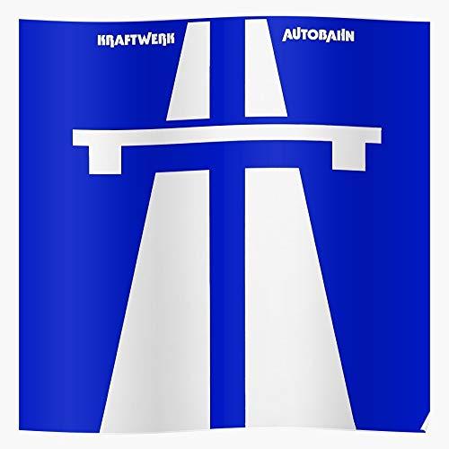 Record Kraftwerk German Music Vinyl Album Band Autobahn Regalo para la decoración del hogar Wall Art Print Poster 11.7 x 16.5 inch