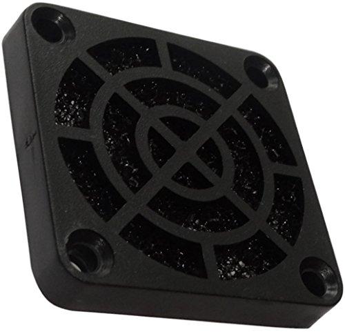 AERZETIX: 2 x Rejilla Negra de protección C15113 40x40mm ventilación con Filtro 45ppi de Polvo para Ventilador de Caja de Ordenador PC