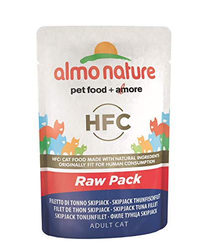 Almo Nature Cat Food Classic Raw Pack - Bolsa para Saltar con Filtro de atún