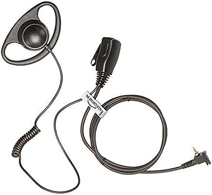 chuangxh g-shape auricular//micr/ófono para Motorola Tetra mth650/mth850/mtp850/mts850/Radio de dos v/ías Walkie Talkie