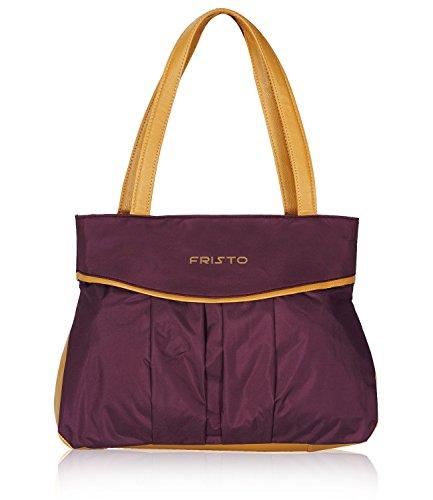 Fristo Women's Handbag Purple and Beige