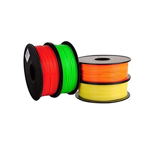WANGZHI. ABS 3D-Drucker Filament 1.75mm 1 kg Kunststoff-Gummi-Verbrauchsmaterial-Material 3D Filament 1,75 impressora 3dFilament (Color : Braun, Size : Kostenlos)