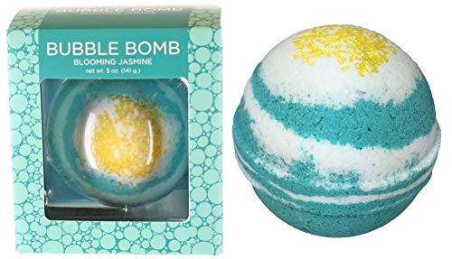Blooming Jasmine Bubble Bath Bomb in Gift Box - Large Lush Spa Fizzy Kit, Best Gift Idea for Women, Moms, Teens, Girls - Homemade by Moms in The USA - Two Sisters Spa