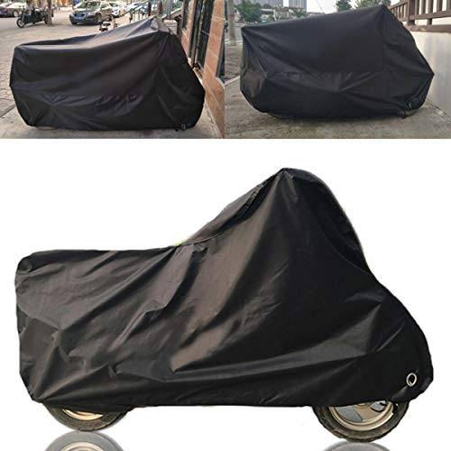 GNY Cubierta Impermeable para Motocicletas 190t Negro Cubierta de Motocicleta Impermeable out Lluvia Polvo UV Scooter Protector (Color : L)