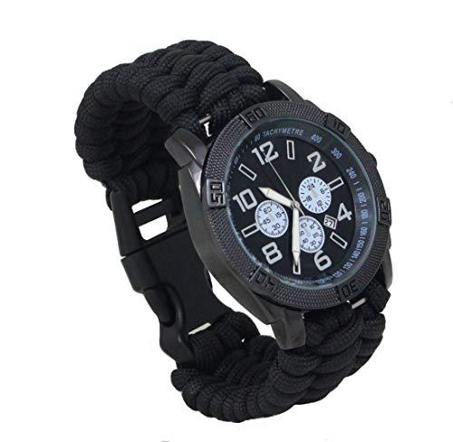 Uhr PARACORD Armband schwarz Gr.M