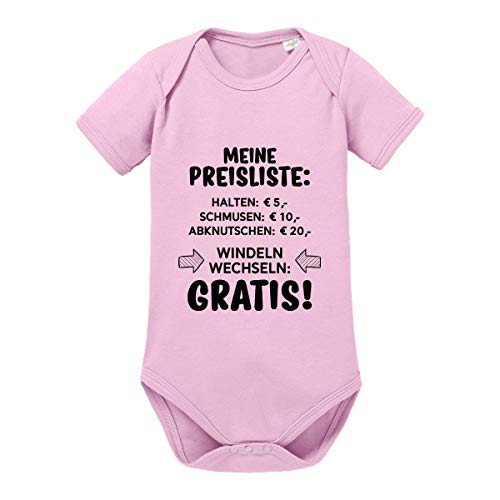 Herzbotschaft Babybody Modell: Meine Preisliste (3-6 Monate, Orchid pink)