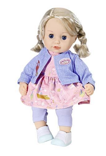Zapf Creation 706374 Baby Annabell Little Sophia Puppe mit Haaren und Schlafaugen 36 cm