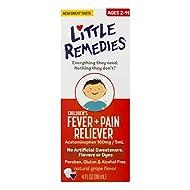 LittleRemedies Children's Fever & Pain Reliever withAcetaminophen  Grape   4 FL OZ