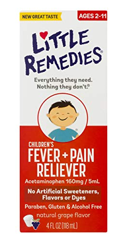 Little Remedies Children's Fever & Pain Reliever, Ages 2 to 11, Grape Flavor, 4 fl oz