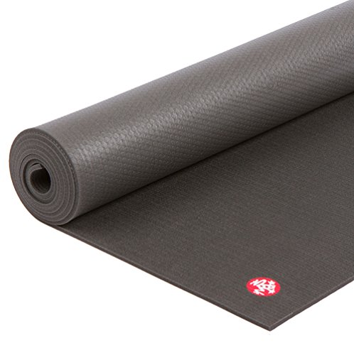 Manduka PRO Yoga Mat – Premium 6mm Thick Mat, Eco Friendly, Oeko-Tex Certified and Free of ALL Chemicals. High Performance Grip, Ultra Dense Cushioning for Support and Stability in Yoga, Pilates, Gym and Any General Fitness, Black