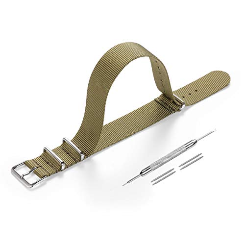 Correas para Relojes Nylon,Correa de Reloj de NATO 18 mm para Mujer y Hombre con Hebilla de Acero Inoxidable