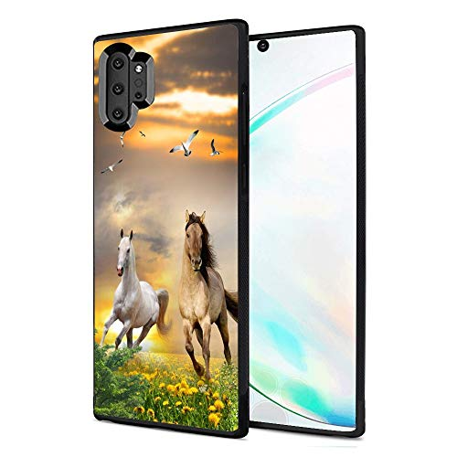 Samsung Galaxy Note 10 Plus case Gallop Horses Full Body Case Cover Screen Protector Heavy Duty Protection case Shockproof case for Samsung Galaxy Note 10 Plus
