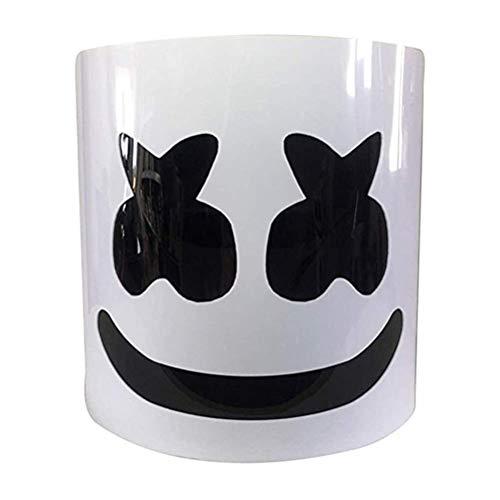 Wttfc DJ Marshmallow Casco Máscara, DJ Music Festival Máscara Casco Fiesta Novedad Disfraz Casco Máscara Ajustable Chris Comstock Style Máscara