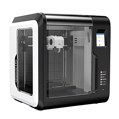 Flashforge 3D Printer Adventurer 3 Pro, Auto Leveling Glass Hot Bed, Built-in HD Camera, 8GB Internal Storage, Touchscreen, Filament Detection, Wi-Fi...