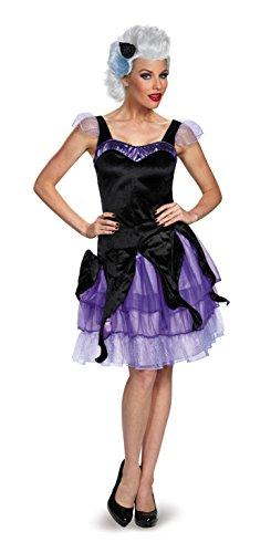 Disney Disguise Women's Ursula Deluxe Adult Costume, Black/Purple, Small