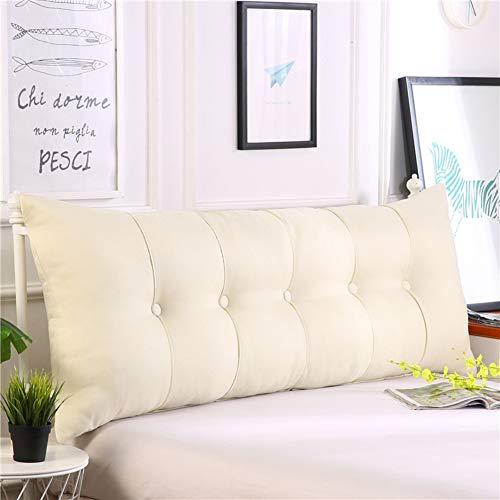 HAOLY Baumwolle und leinen rechteckig Bett Kopf Kissen,Große dreieckige Sofa rückenlehne,Weiche Tasche Tatami Bett Kissen,Abnehmbaren rückenpolster-H 100x20x60cm(39x8x24inch)