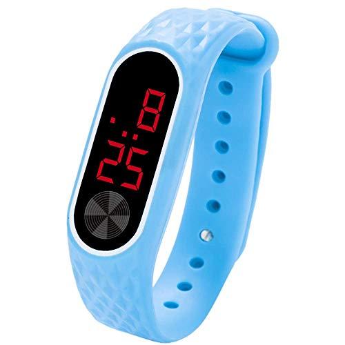VECOLE Fitness Armband, LED-Digitalanzeige Unisex Kids Student Silicon Sportuhr Fitness Uhr (Himmelblau)