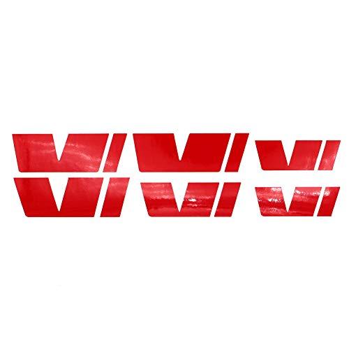 Finest-Folia Emblem Folie Set passgenau für Innenflächen Skin Logo Aufkleber Kühlergrill (K035 Rot Glanz)