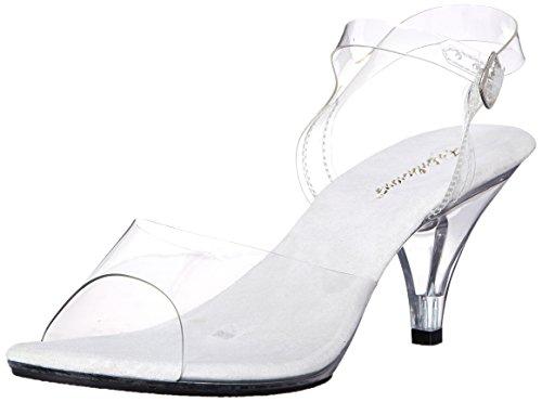 Fabulicious Women's Belle 308 Dress Sandal, Clear, 9 M US