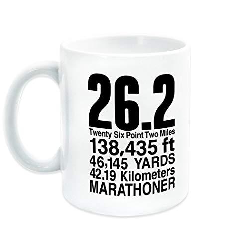 Marathon 26.2 Math Miles Ceramic Mug | Running Coffee Mug by Gone For a Run | Black