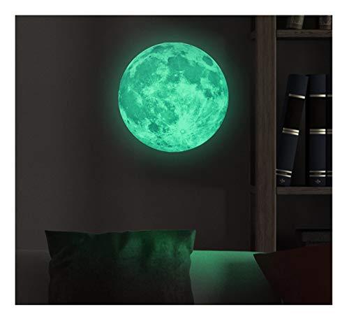 Pegatina de luna fosforescente, 30 cm